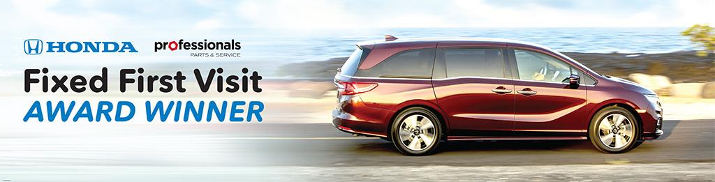 Walnut Creek Honda Service >> Honda Professionals - Fixed First Visit Award Winners